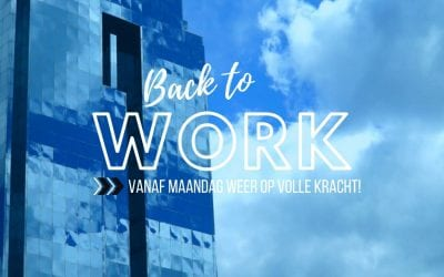 Back to work! – Opstarten na de bouwvak